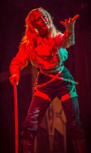 Sara Morsey as Hunchback in All Girl Frankenstein.
