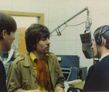 Graham Nash at WUWU radio studios in the Gainesville Mall in 1968. The Hollies were plaing the Florida Gym.