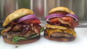 Two burgers from Gator Baked