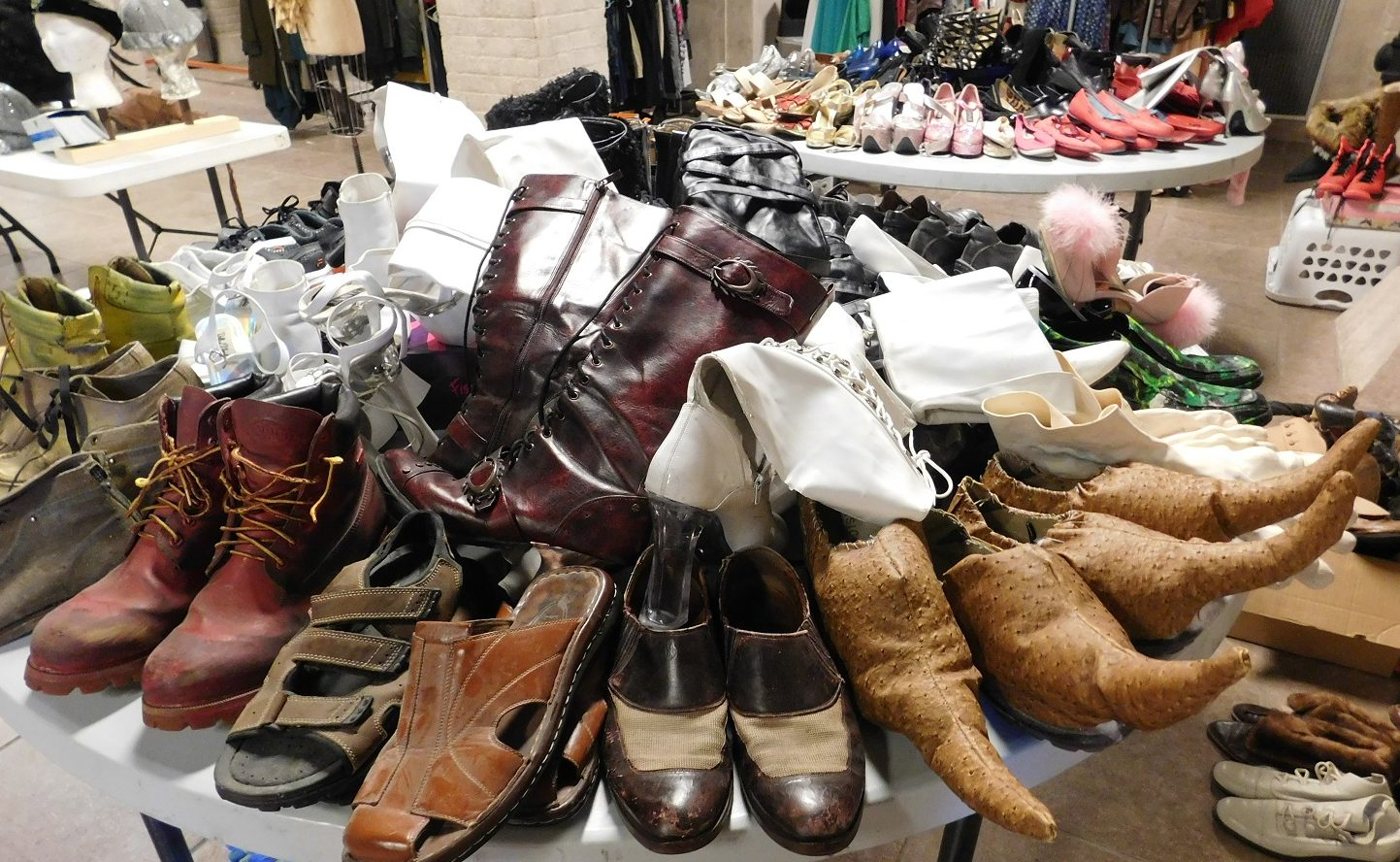 Shoes in all sizes and shapes will be for sale during the Hipp Costume Extravaganza. Photo by Gainesville downtown)