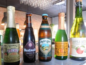 Some of the imported beverages offered at Alpin.