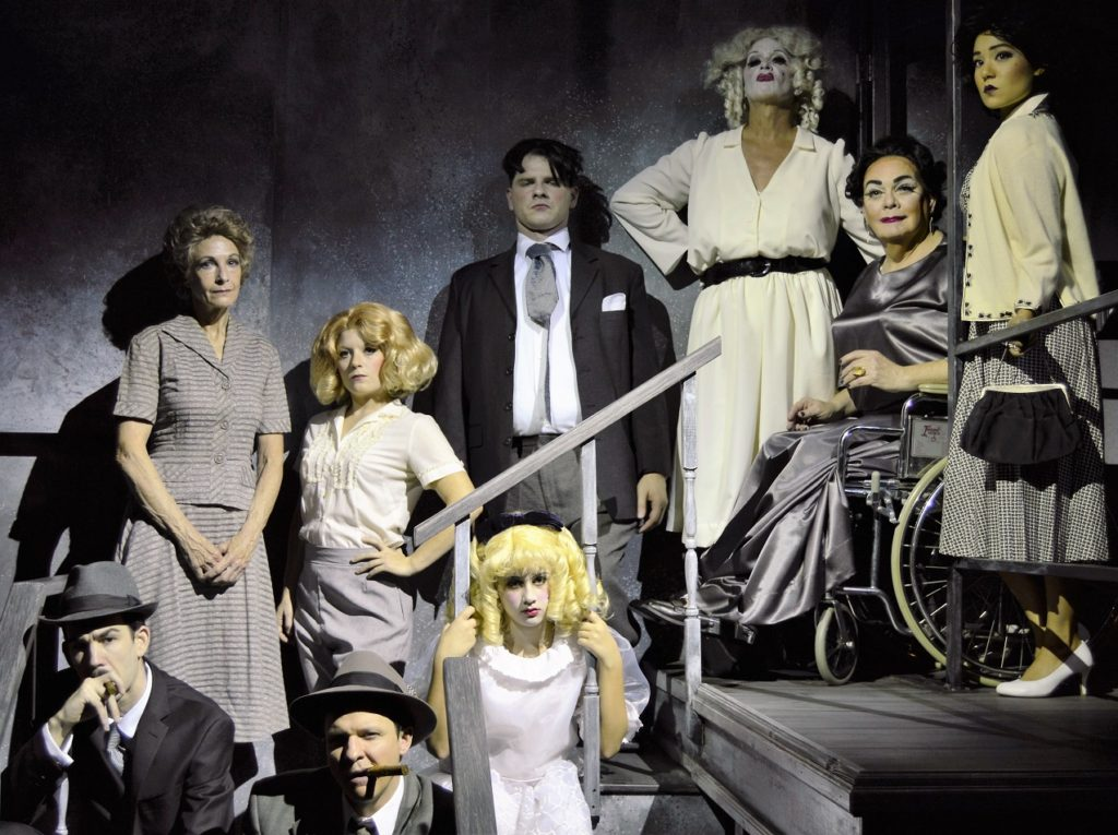 The cast of Whatever Happened to Baby Jane? Photo by Gainesville downtown)