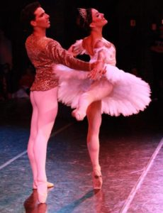 Jessie Dominguez and Roberto Vega in Grand Pas on the road. Photo by Monica Sue Nielsen