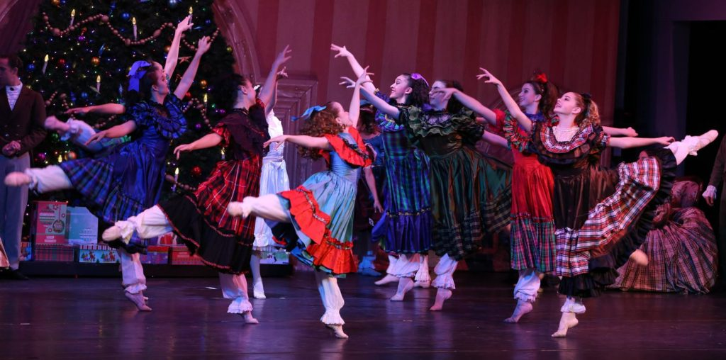 """""""The Christmas Party"""" during The Nutcracker. Photo by Monica Sue Nielsen)"""