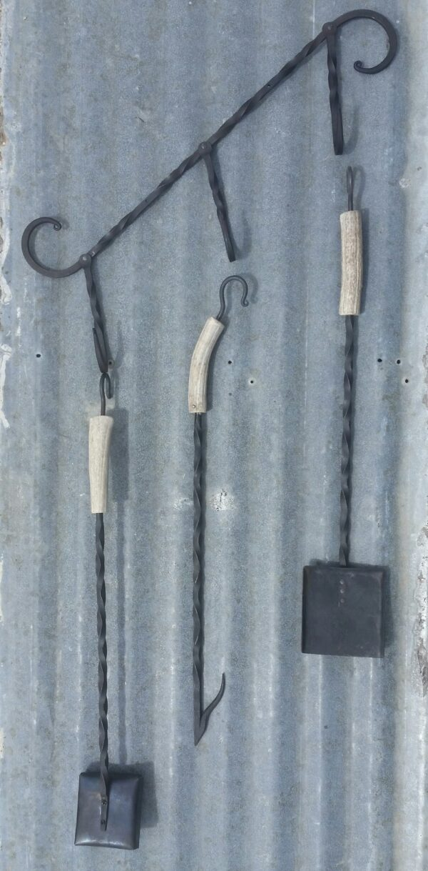 Hand forged BBQ cleaner toolset