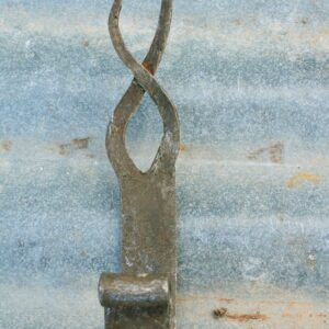 Flame shaped hand forged decorative wall hook