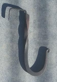 Handmade tall wrought iron wall hook