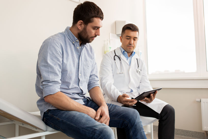 Parkinson's patient with doctor