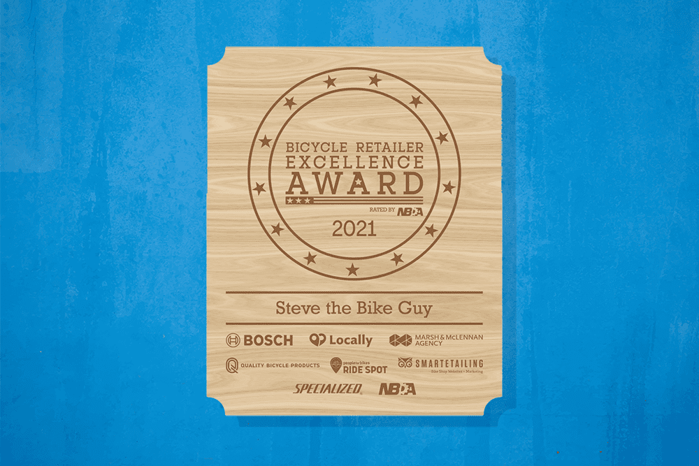 Bicycle Retailer of Excellent Award
