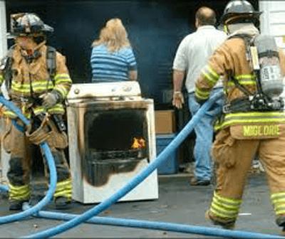 <center>Dryer Lint Fire</center>