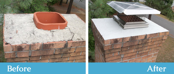 Chimney repairs - Before & After