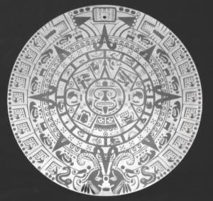 Acrylic Mayan Calendar