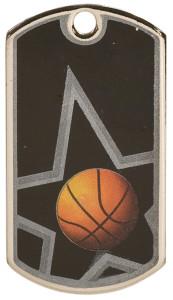 Basketball Dog Tag