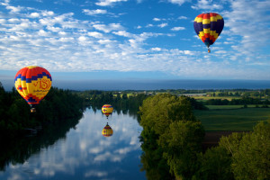 Hot Air Balloons over Willamette
