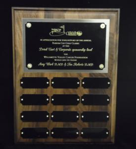 Recurring Award Plaque