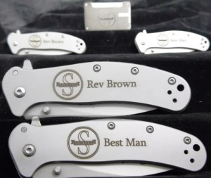 Wedding groomsman knives
