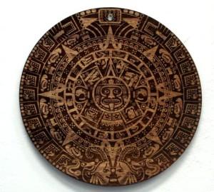 Wood Mayan Calendar