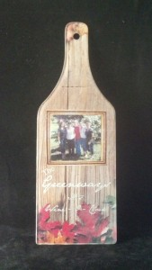 Cutting board with True sublimation picture Very durable acrylic makes your kitchen a little more personal.