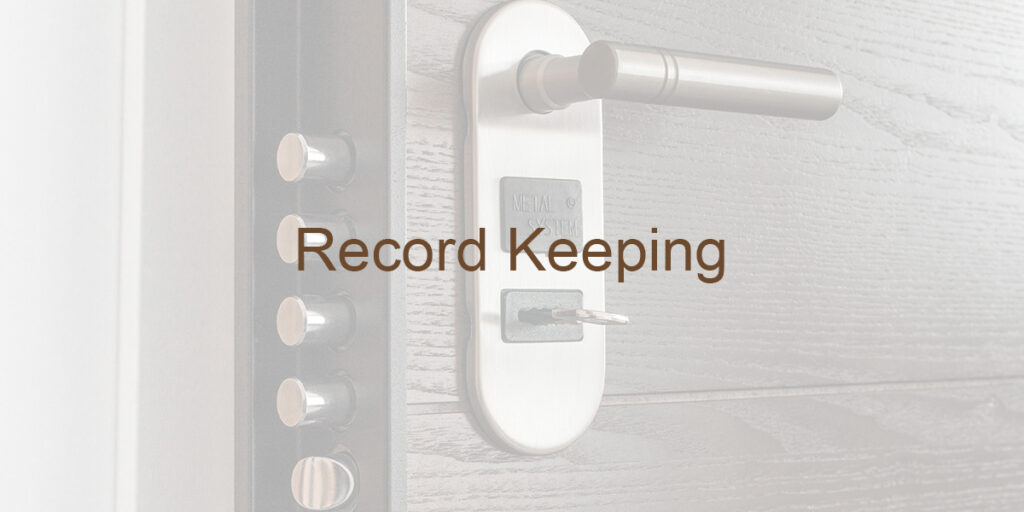 Record Keeping Definition