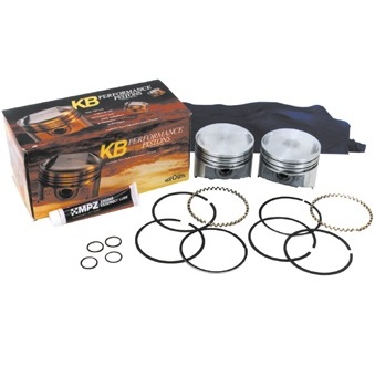 harley davidson motorcycle Evo 1340 Keith Black flat top pistons, piston rings, pins and lock rings