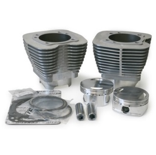 Revolution performance Nikasil cylinders with high compression pistons and gaskets for Harley Davidson Twin Cam