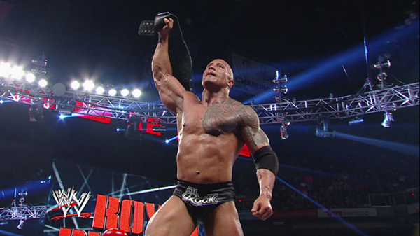 The Rock wins