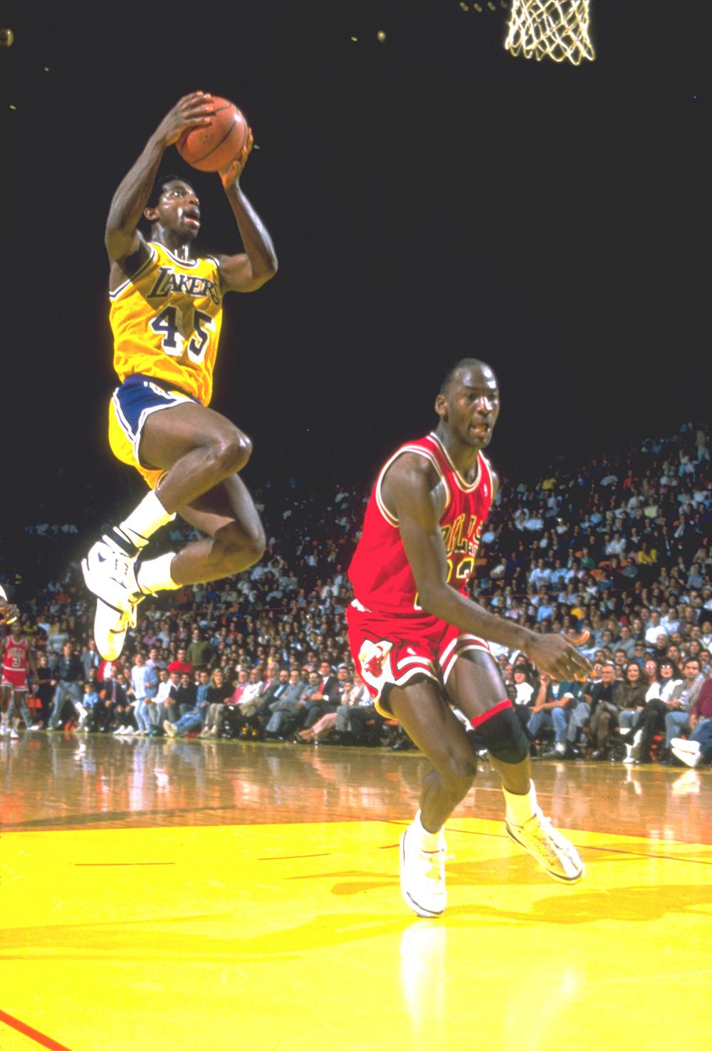 AC takes Michael Jordan to the hole