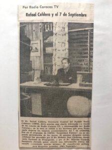 Rafael Caldera - 1958 Septiembre 11. La lección del 7 de septiembre