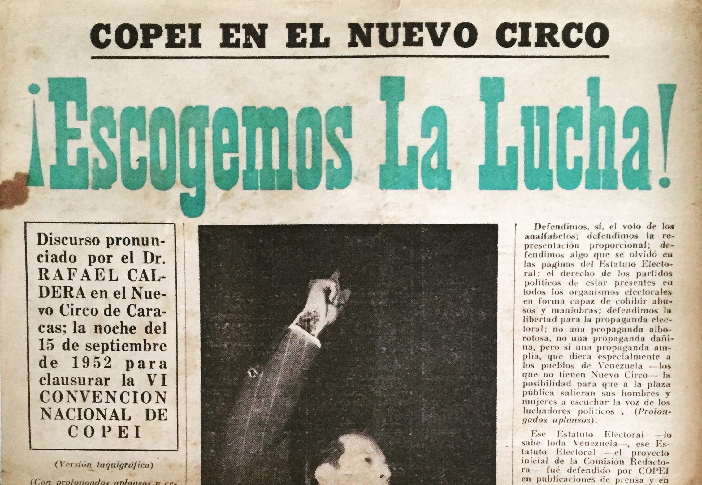 ¡Escogemos la lucha! (1952)