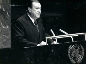 Caldera en la ONU, 25 de agosto de 1980