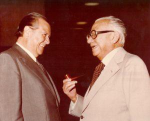 Rafael Caldera y Rómulo Betancourt en 1978.