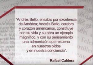Andrés Bello por Caldera