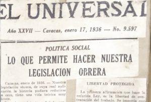 RC. El Universal, enero 17, 1936