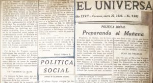 RC. El Universal, enero 22, 1936