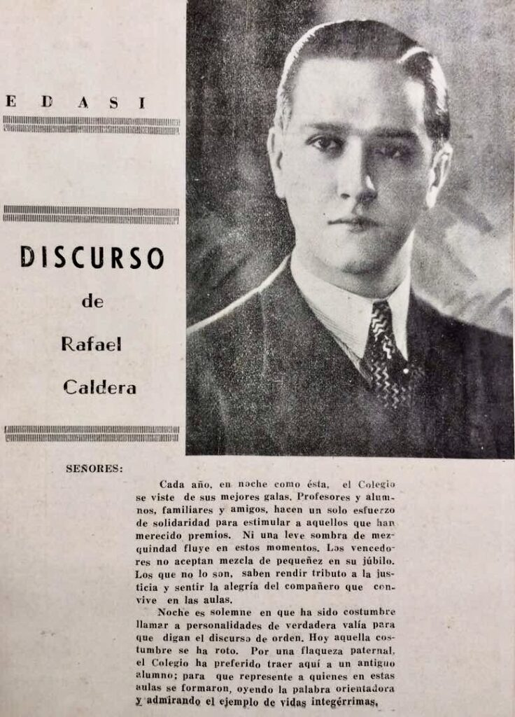 Discurso en el Colegio San Ignacio como antiguo alumno (1938)