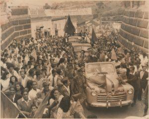 1947. Campaña electoral presidencial en San Cristóbal.