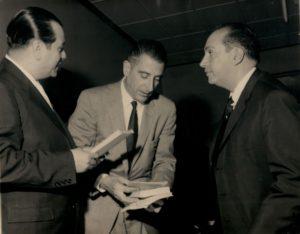 1959. Febrero. Visita de Eduardo Frei Montalva a Caracas. Aparecen con Lorenzo Fernández.
