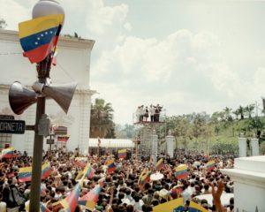 1969. Marzo 11. Recibimiento de Rafael Caldera en el Palacio de Miraflores después de la toma de posesión.