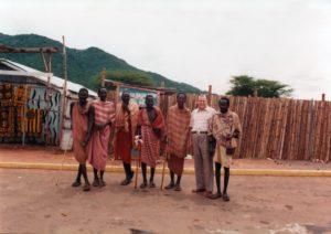 1982. Abril. Con los Massai, en Kenya, como Presidente de la Unión Interparlamentaria Mundial.