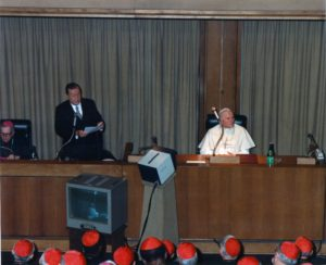 1987. Marzo, 25. Discurso en el Vaticano con motivo del XX aniversario de la Encíclica Populorum Progressio.