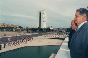1996. Mayo 19. Visita oficial a Brasil, Palacio de Planalto.