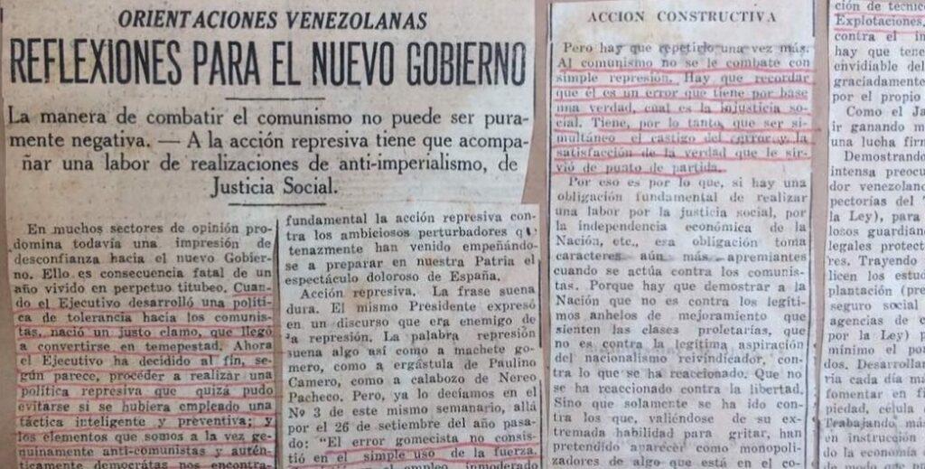 1937. Marzo, 7. El Universal: Reflexiones para el nuevo gobierno