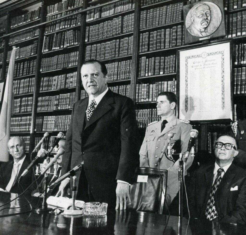 Rafael Caldera en el Colegio de Abogados de Buenos Aires (1973)