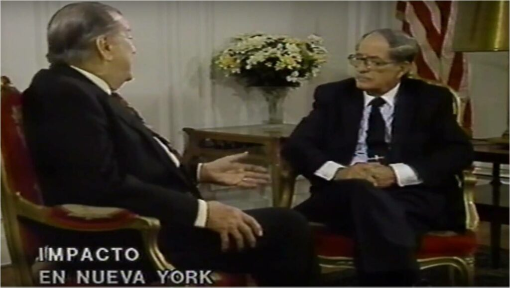 Rafael Caldera desde Nueva York – Entrevista Edgardo de Castro, Venevisión (1993)