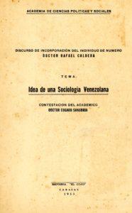 Idea de una sociología venezolana