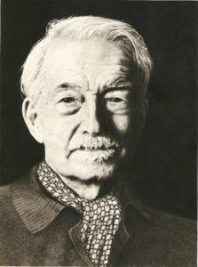 Jacques Maritain. Dibujo a lápiz de Pedro Mancilla (Moldes para la Fragua, Editorial Dimensiones)