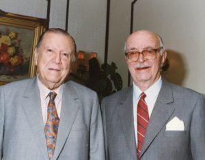 Rafael Caldera y Pedro Grases