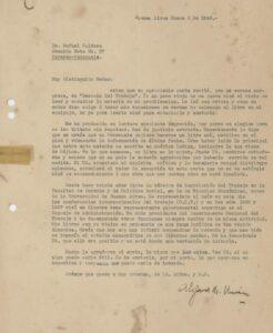 1940. Enero, 5. Carta de Alejandro Unsain a Rafael Caldera