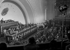 Rafael Caldera ante el Congreso Nacional