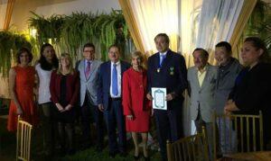 Rafael Caldera homenajeado en Lima 1